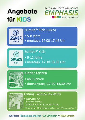 Unsere Angebote für KIDS